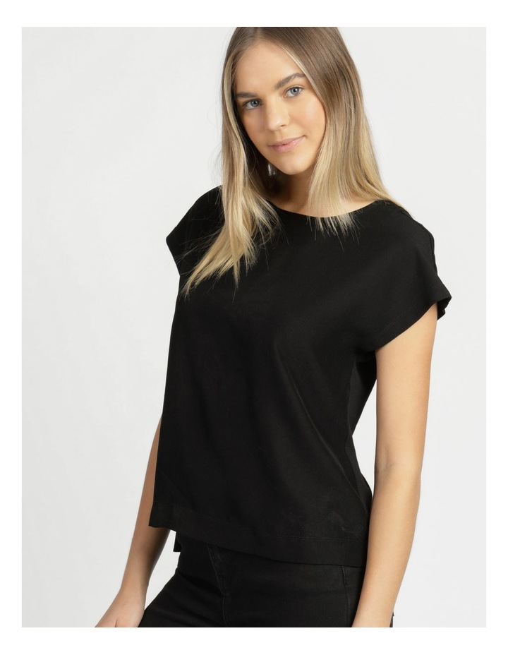 Relaxed Short Sleeve Top Black image 5
