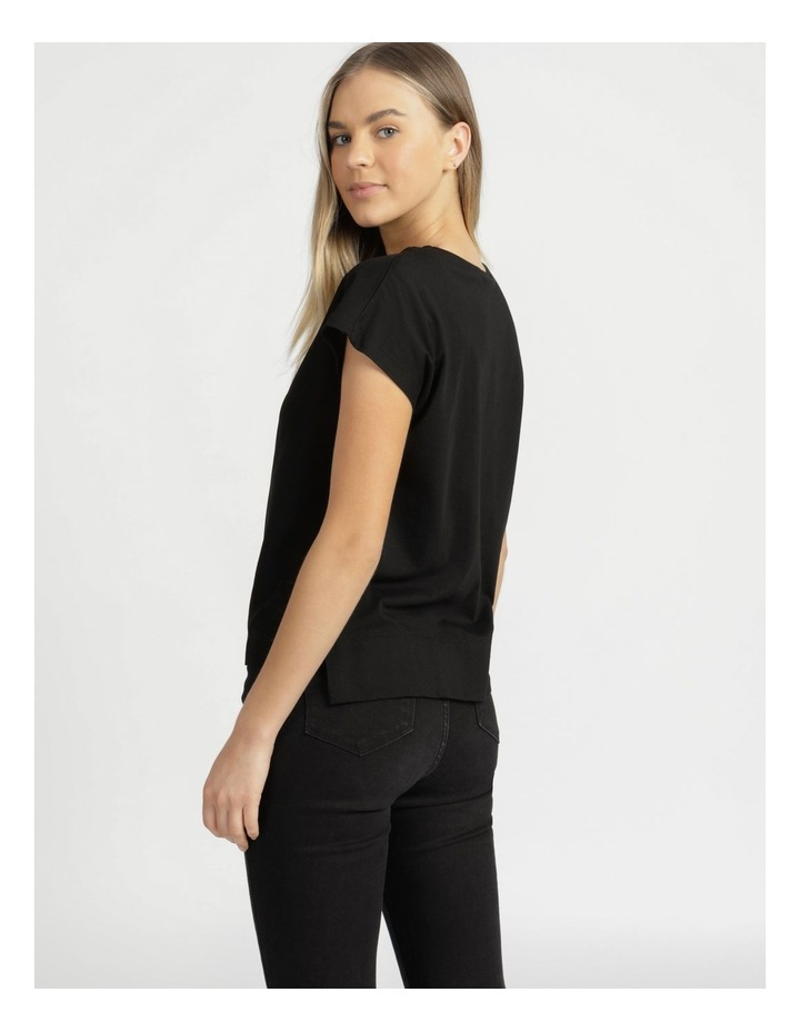 Relaxed Short Sleeve Top Black image 6