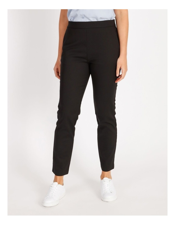 Penelope Mid Rise Pull On Cotton Sateen Pants image 1