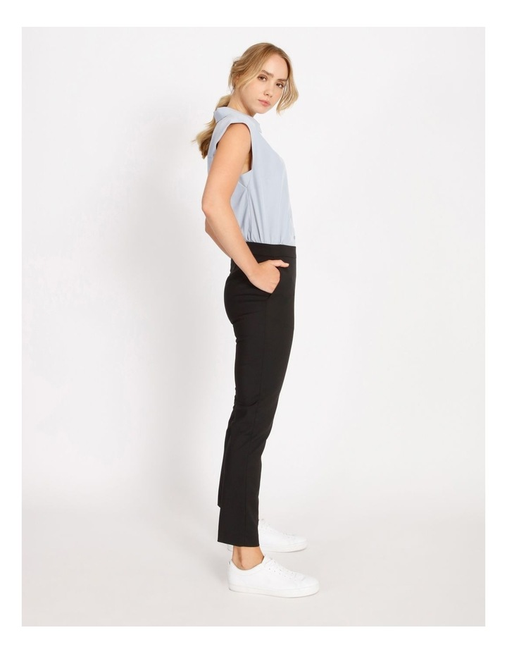 Penelope Mid Rise Pull On Cotton Sateen Pants image 2