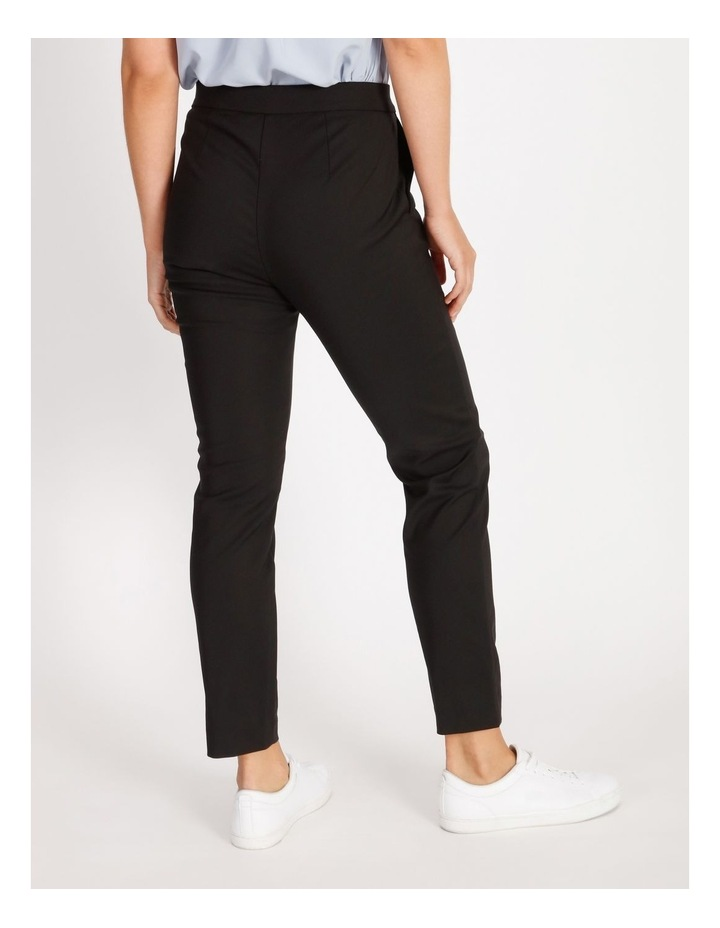 Penelope Mid Rise Pull On Cotton Sateen Pants image 3