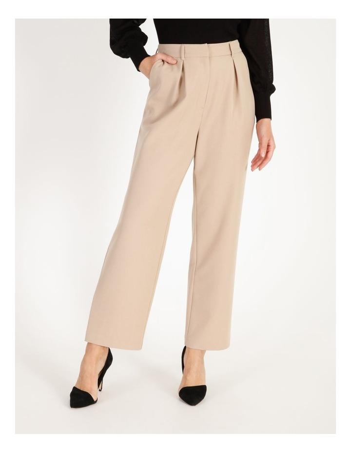 Pleat Front Wide-Leg Pants image 1