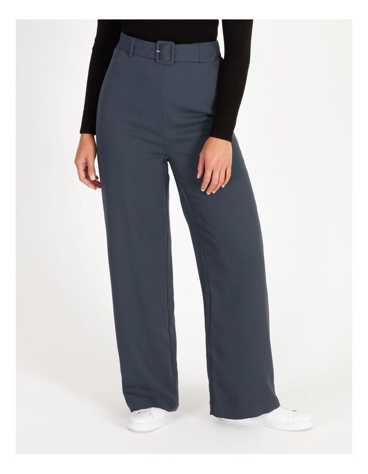 Wide Leg Pants With Belt Detail image 1