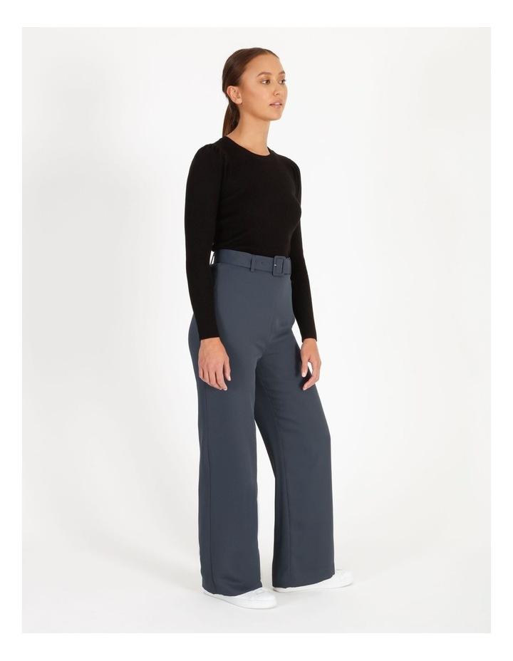 Wide Leg Pants With Belt Detail image 2