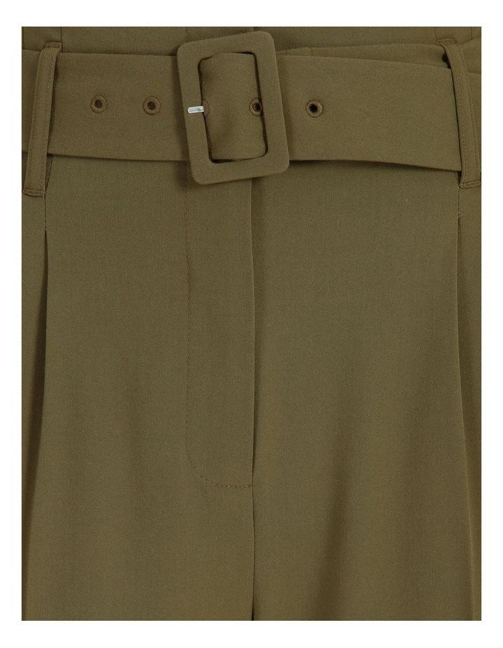 High Waist Tapered Belt Pants image 7