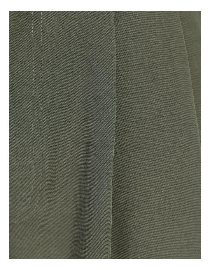 Belt Detail Elastic Tapered Pants Olive image 7