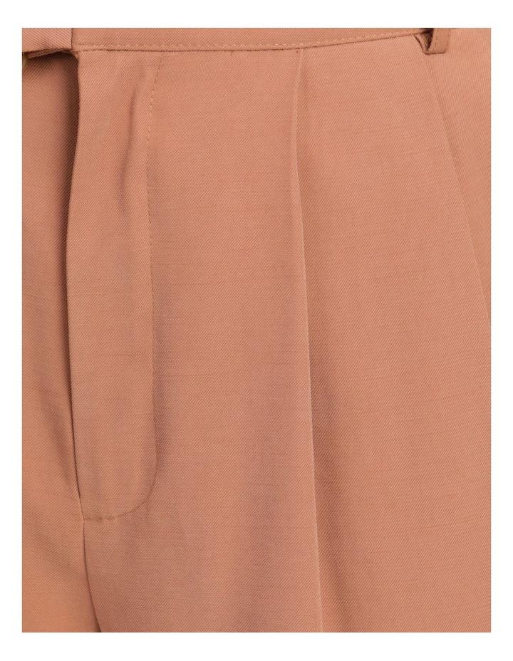 Belt Detail Elastic Tapered Pants Cinnamon image 7