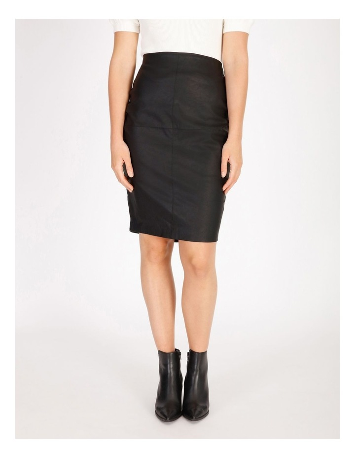 Faux Leather Pencil Skirt image 1