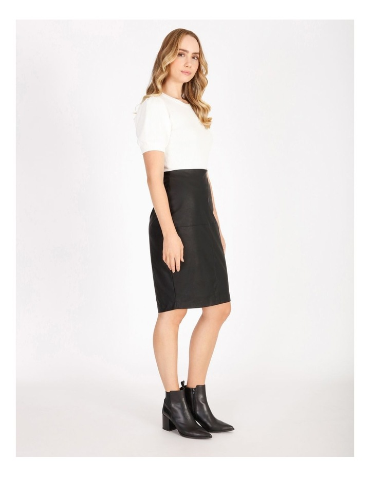 Faux Leather Pencil Skirt image 2