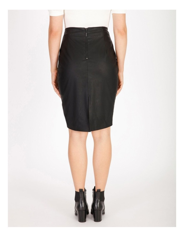 Faux Leather Pencil Skirt image 3