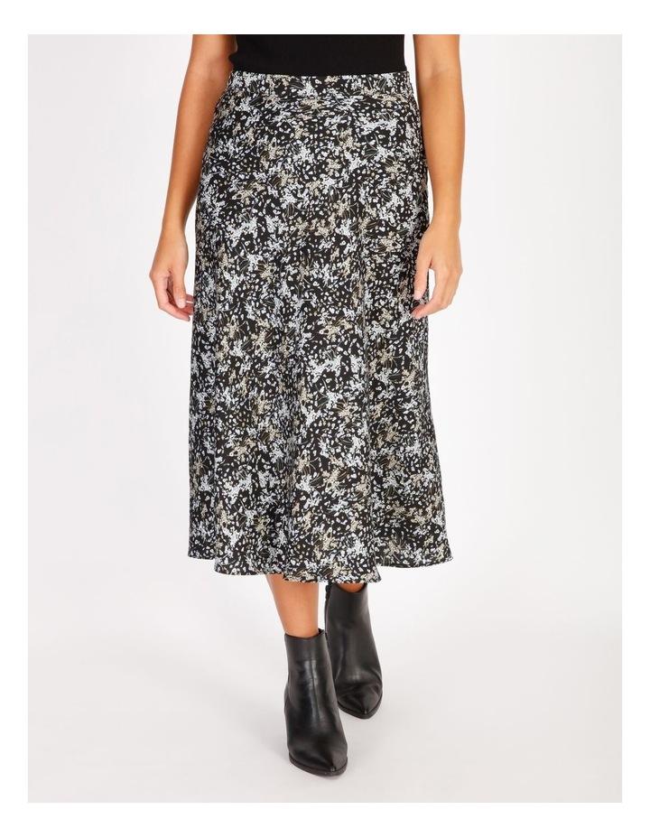 Satin Bias Cut Midi Skirt image 1