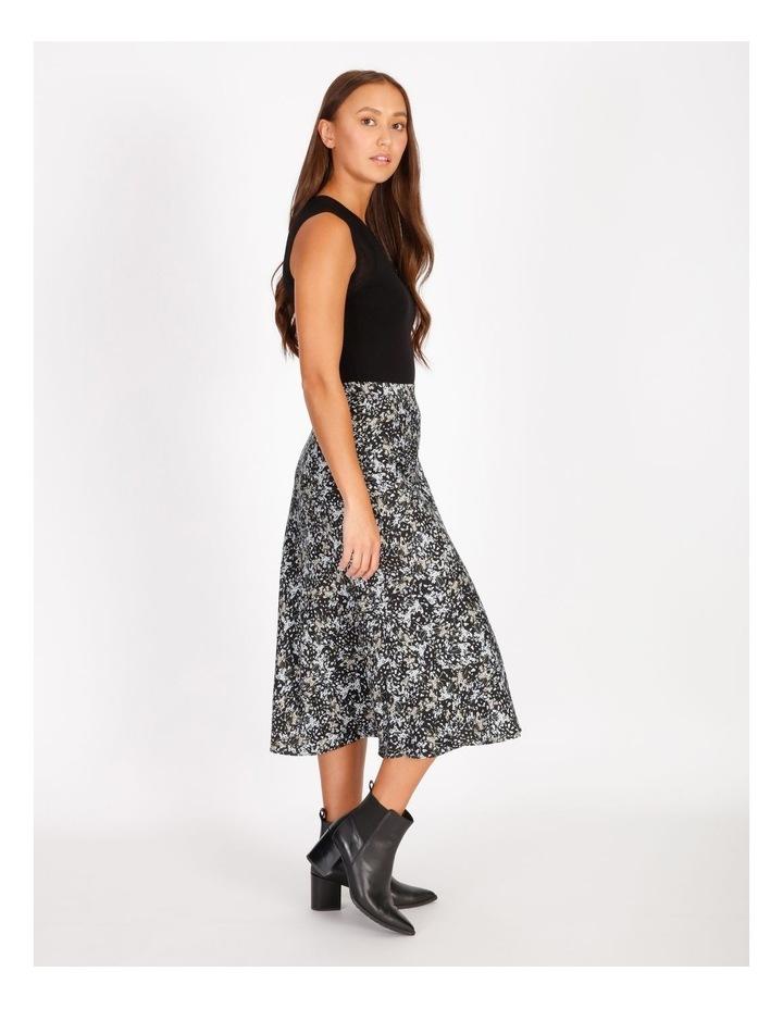 Satin Bias Cut Midi Skirt image 2