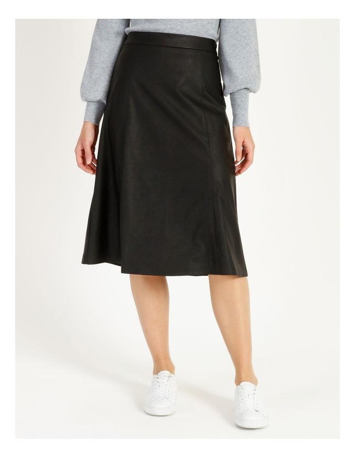 Faux Leather Midi Skirt image 1