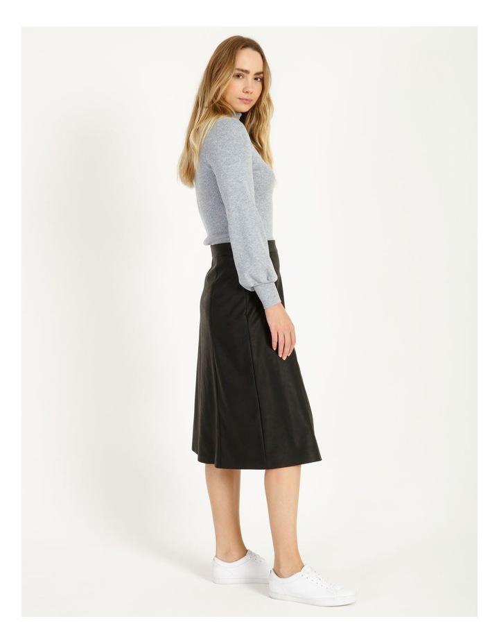 Faux Leather Midi Skirt image 3