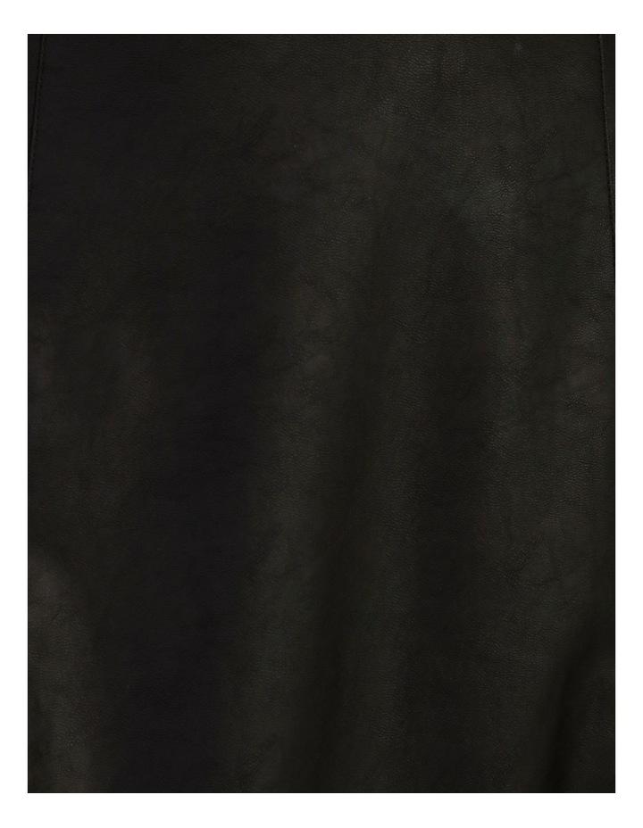 Faux Leather Midi Skirt image 6