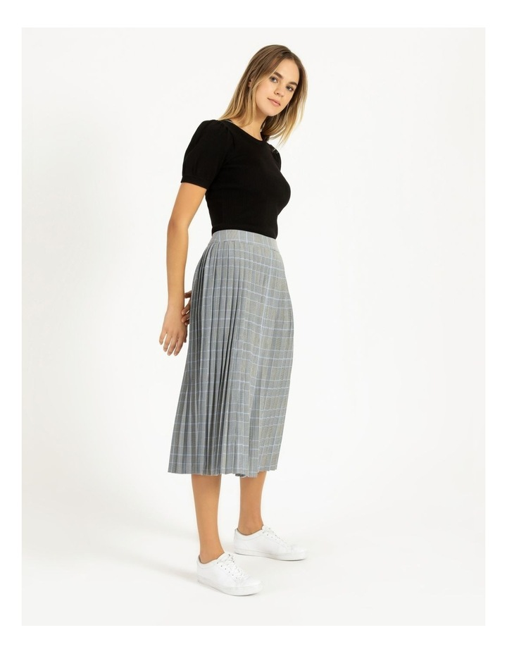 Check Pleat Skirt image 4