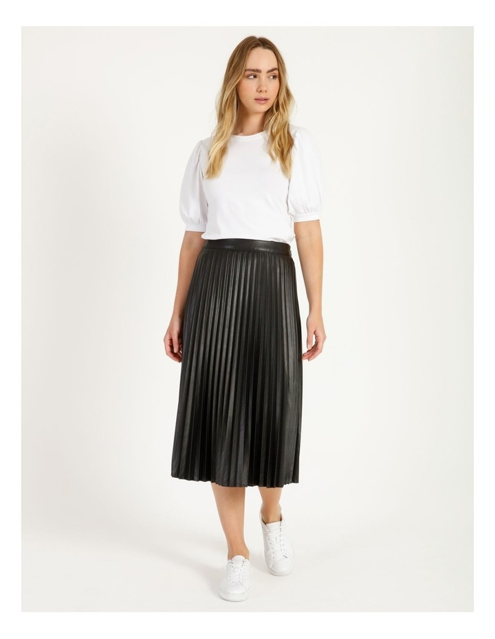 Faux Leather Pleat Skirt image 2