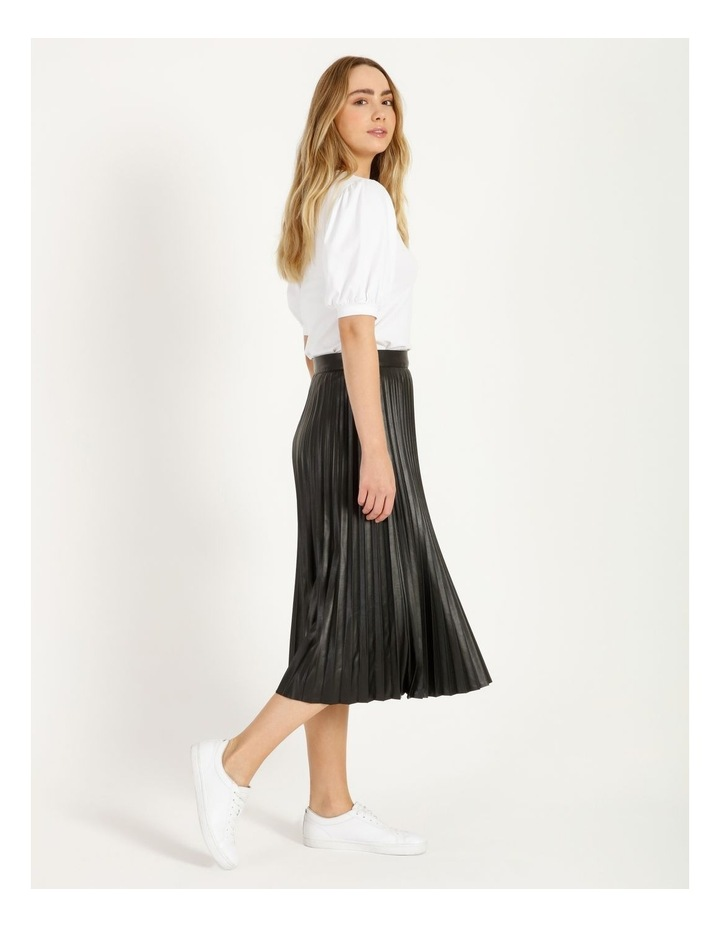 Faux Leather Pleat Skirt image 3