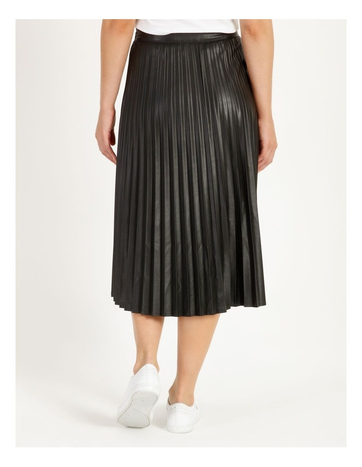 Faux Leather Pleat Skirt image 4