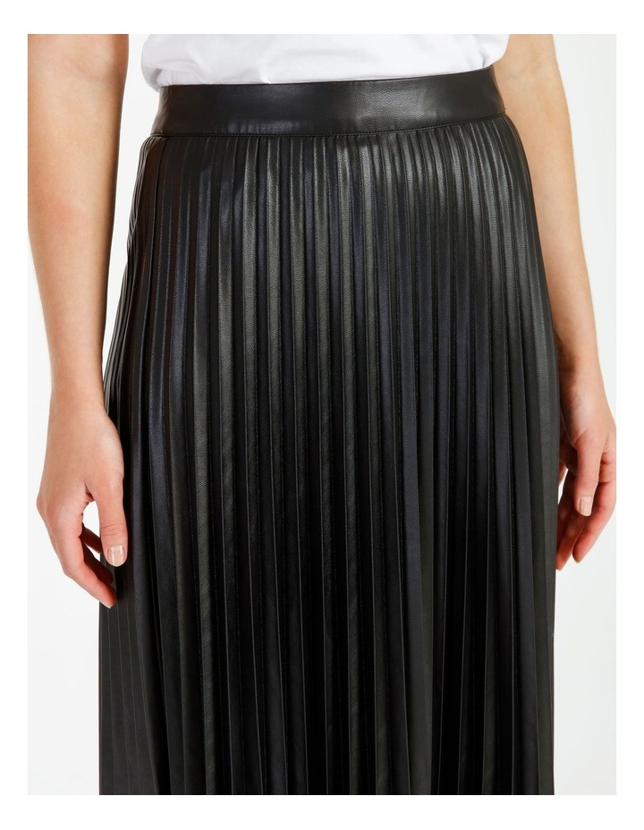 Faux Leather Pleat Skirt image 5
