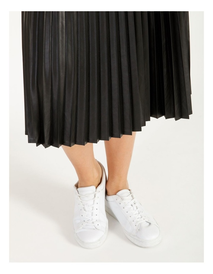 Faux Leather Pleat Skirt image 6