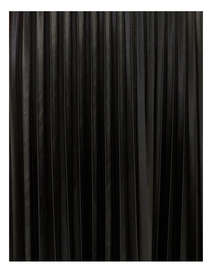 Faux Leather Pleat Skirt image 7