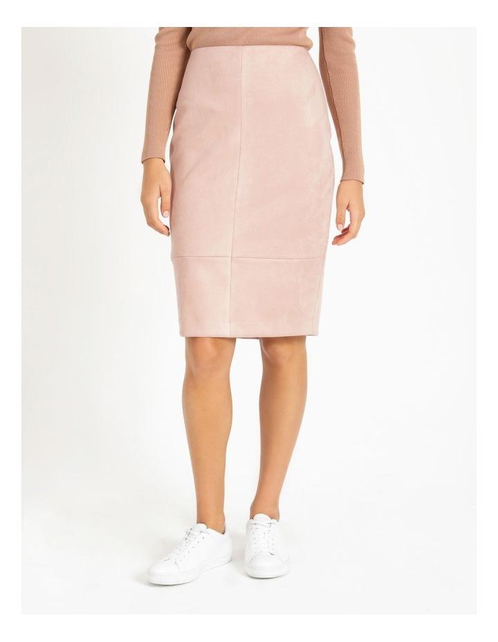 Suedette Pencil Skirt image 2