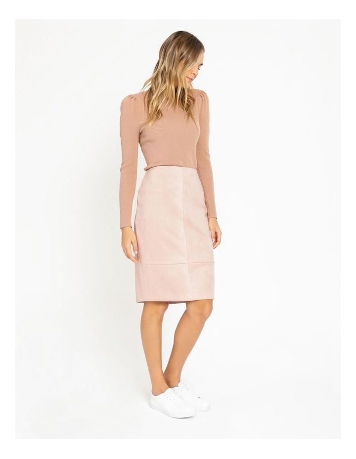 Suedette Pencil Skirt image 3