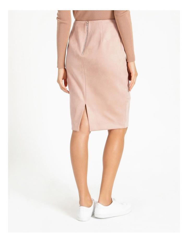 Suedette Pencil Skirt image 4