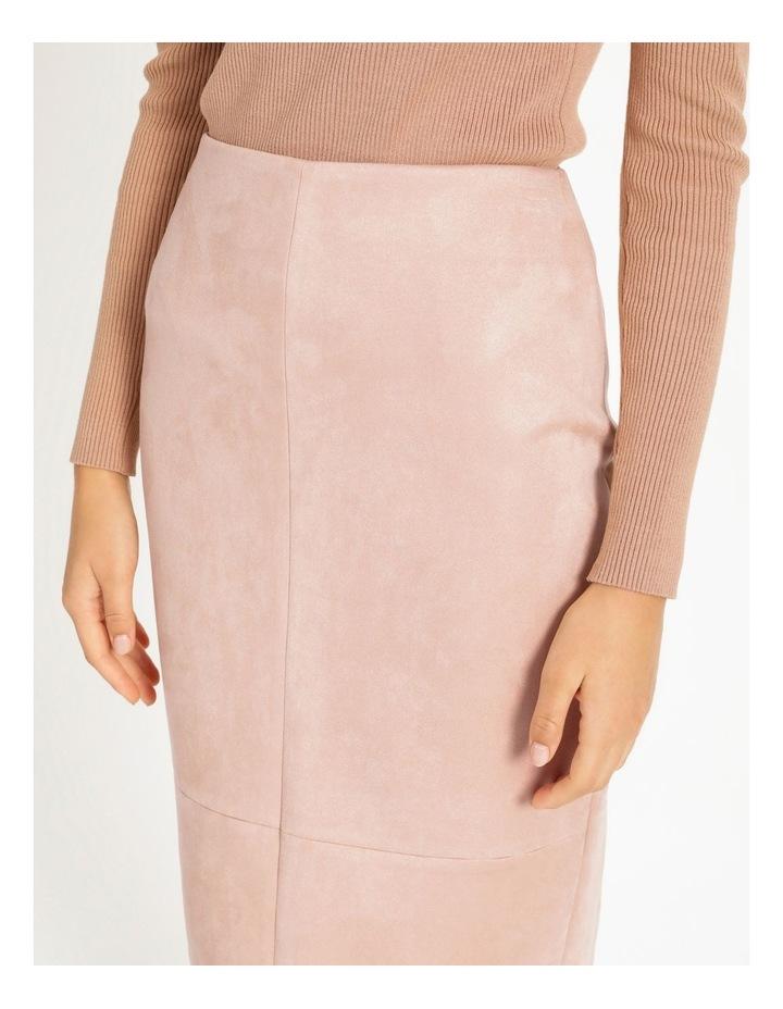 Suedette Pencil Skirt image 5