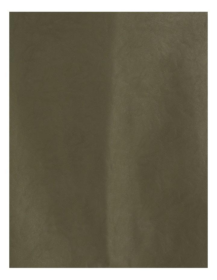 Button Detail Faux Leather Wrap Mini image 5