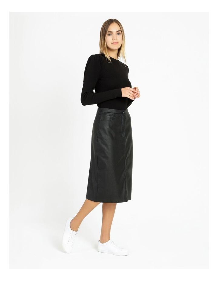 Faux Leather Midi Skirt image 2