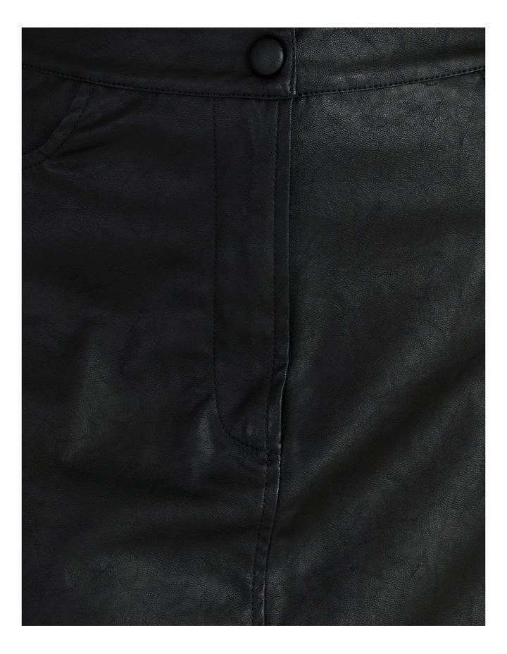 Faux Leather Midi Skirt image 5