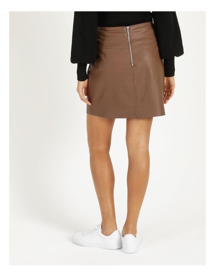 Faux Leather A-Sym Mini Skirt image 5