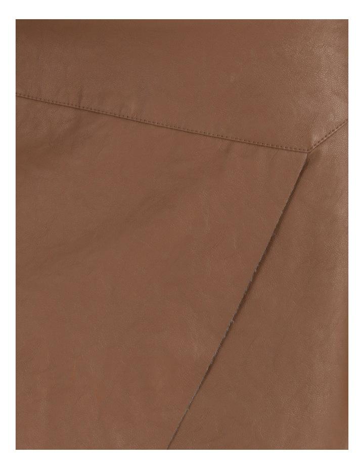 Faux Leather A-Sym Mini Skirt image 6