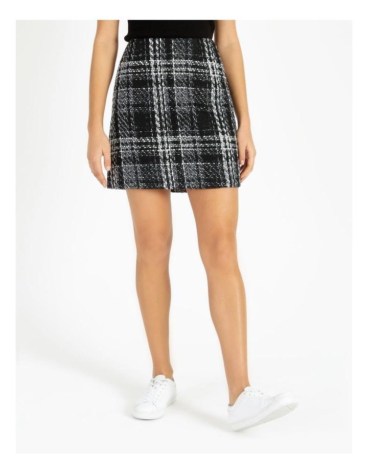 Check Boucle Mini Skirt image 1