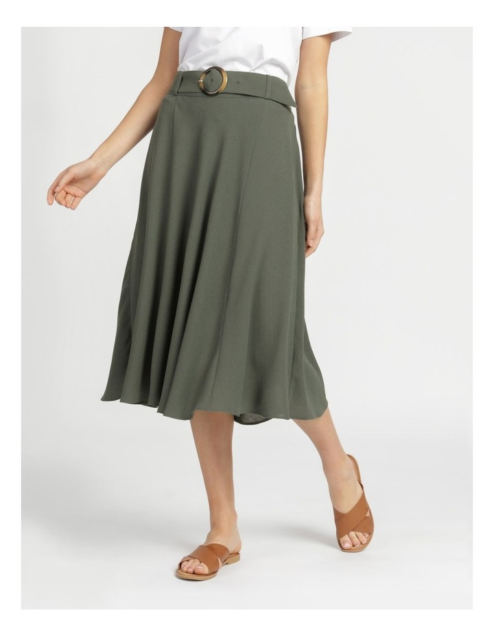 A-Line Belted Midi Skirt image 2