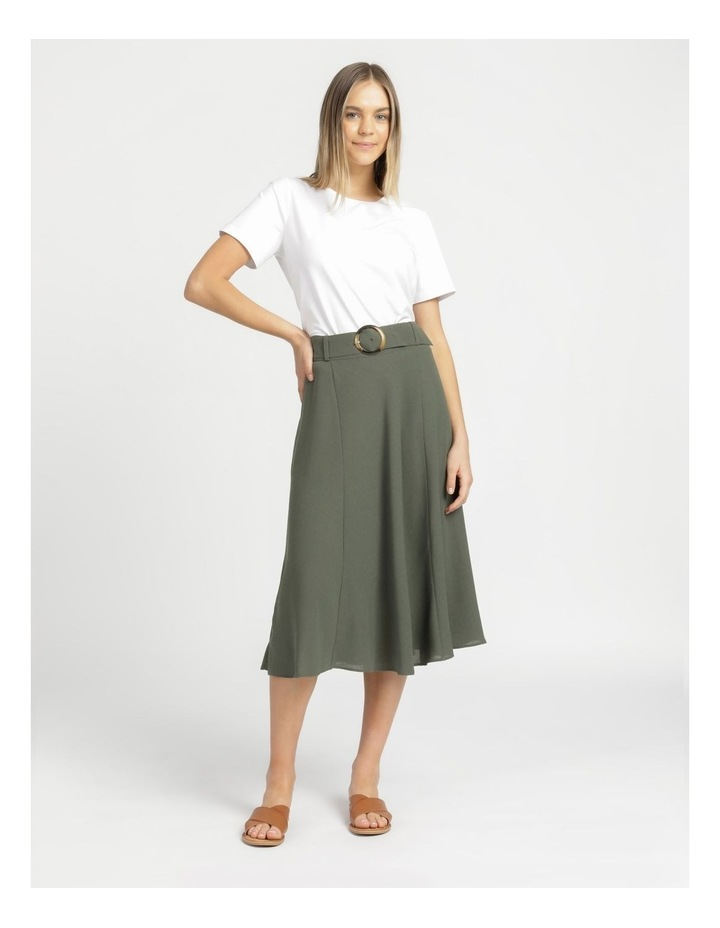 A-Line Belted Midi Skirt image 3