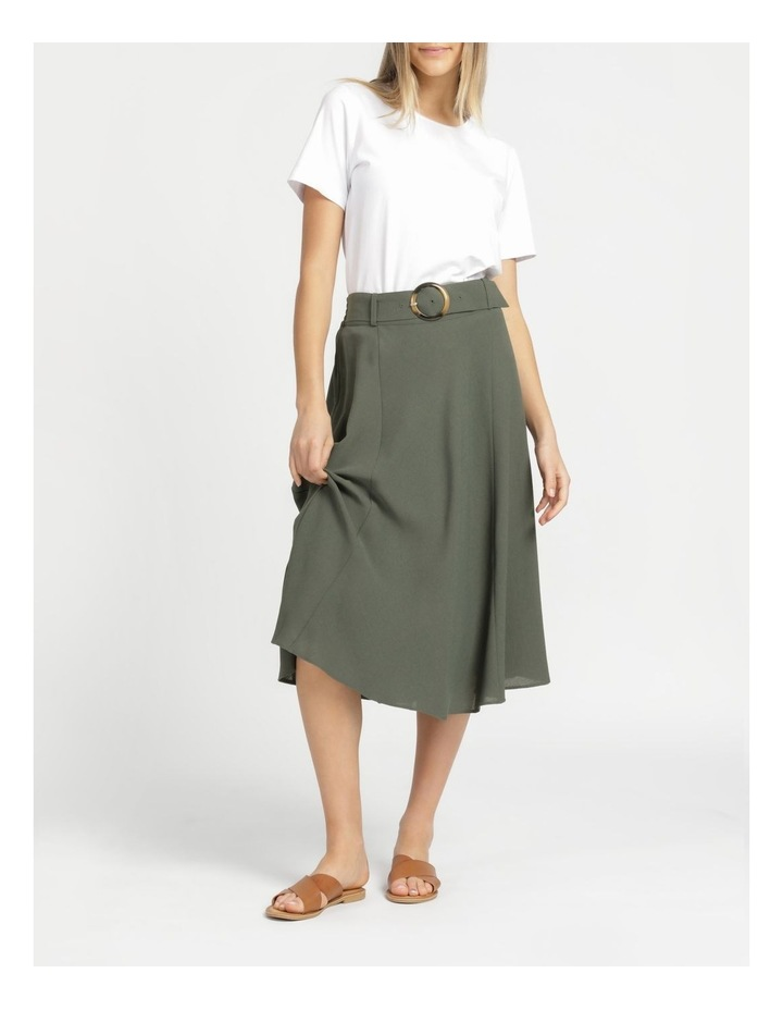 A-Line Belted Midi Skirt image 4