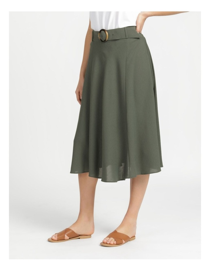 A-Line Belted Midi Skirt image 5