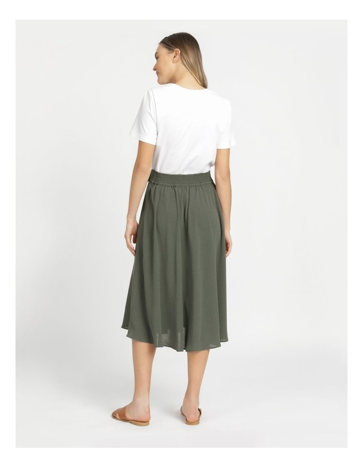 A-Line Belted Midi Skirt image 6