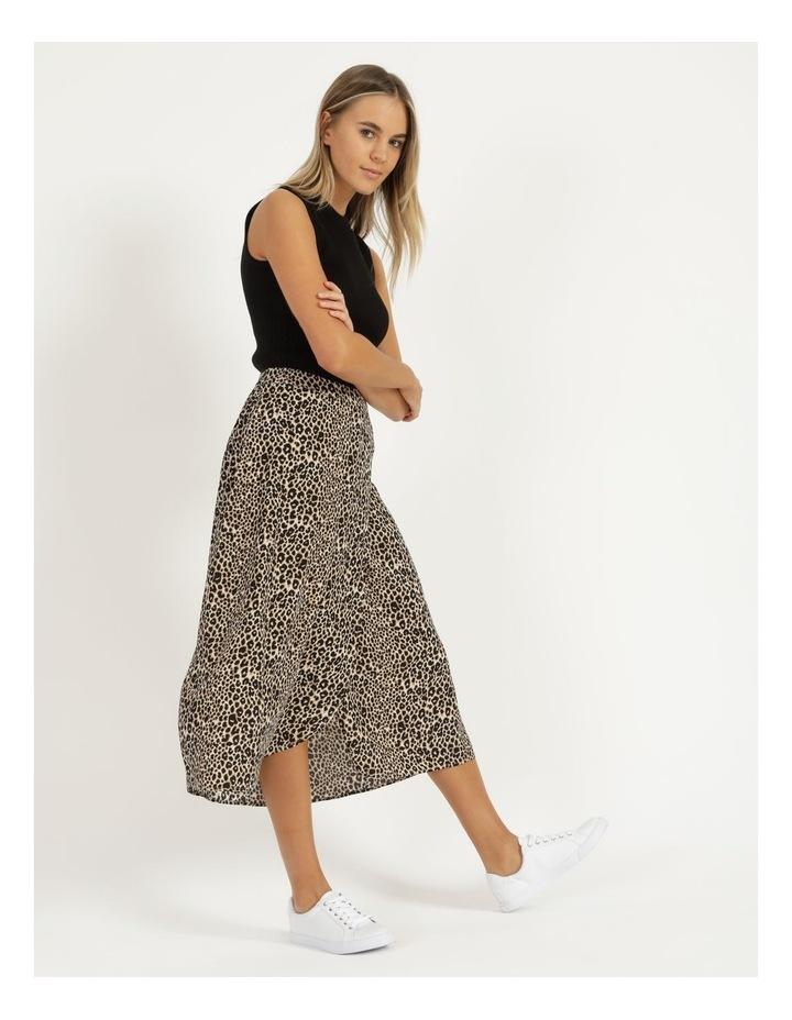 Aline Printed Wrap Midi Skirt image 1