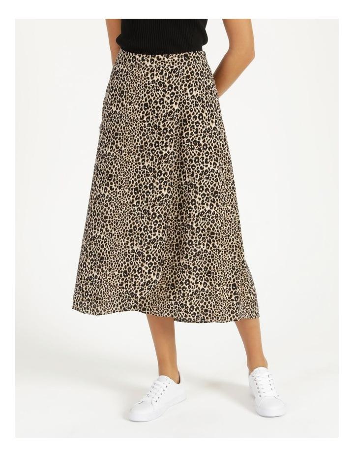 Aline Printed Wrap Midi Skirt image 2