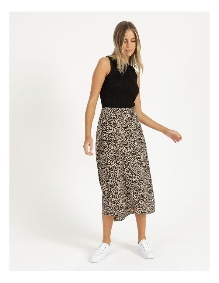 Aline Printed Wrap Midi Skirt image 3