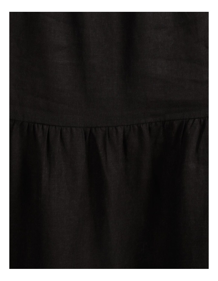 Linen Blend Tiered Midi Skirt image 7