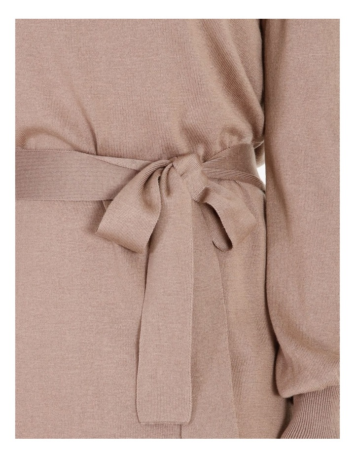 Blouson-Sleeve Wool Blend Knitted Dress image 5