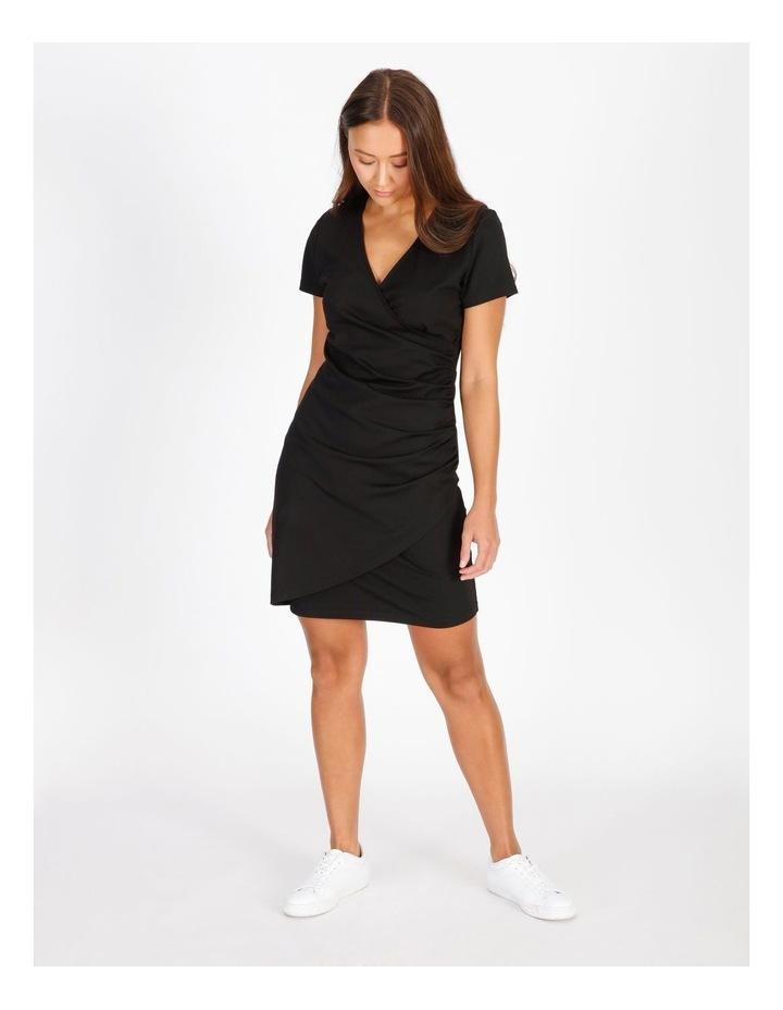 Wrap Front Jersey Mini Dress image 1
