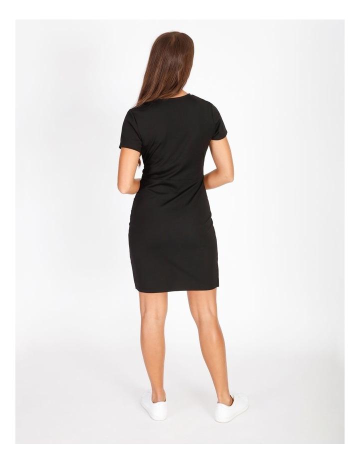 Wrap Front Jersey Mini Dress image 3