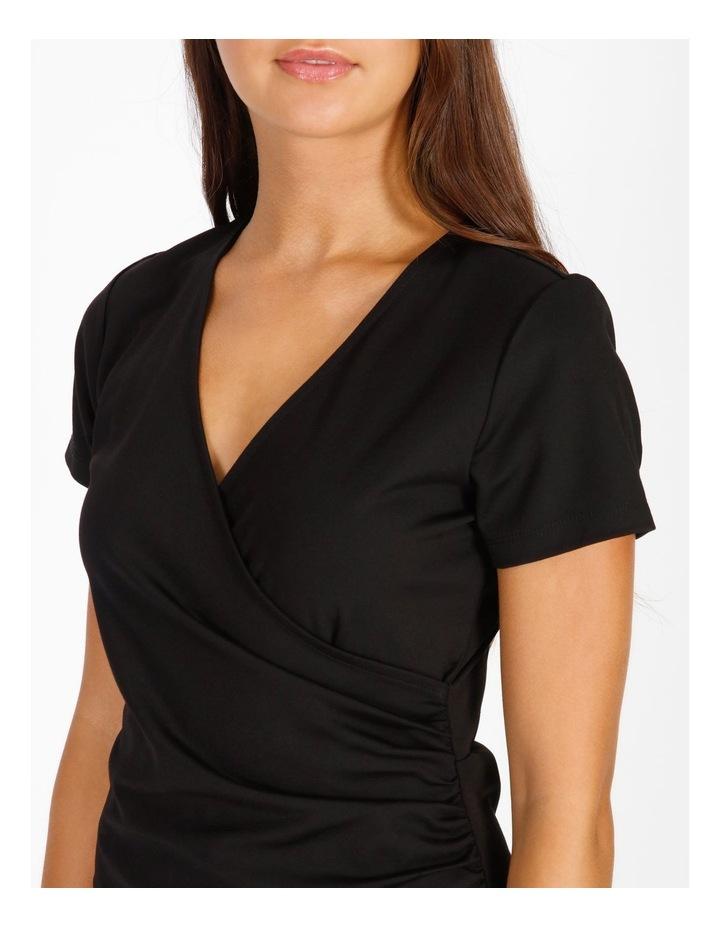 Wrap Front Jersey Mini Dress image 4