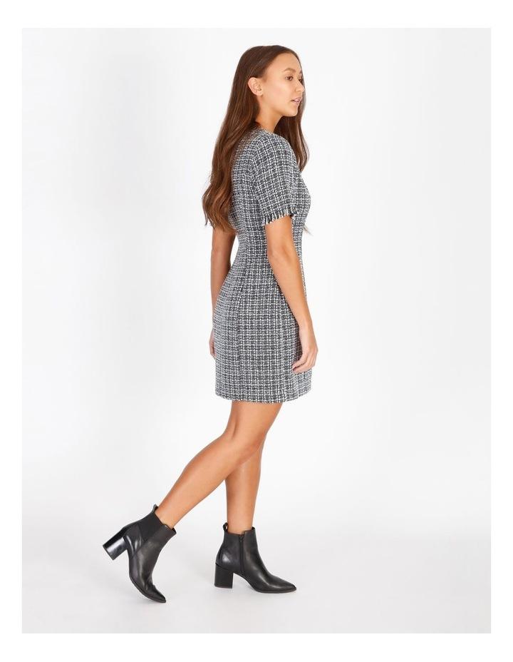 Boucle Power Shoulder Mini Dress image 2